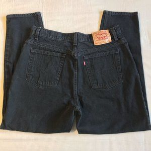 Vintage Levi's 550 Relaxed Fit Tapered Leg black Jeans size 16S